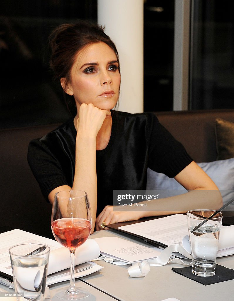 Judge Victoria Beckham attends the 2013 International Woolmark Prize Final at ME London on February 16, 2013 in London, England.