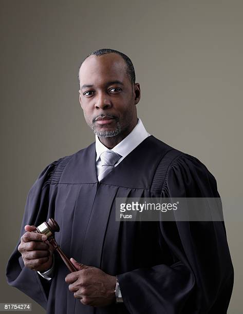 Judge Wearing Gown
