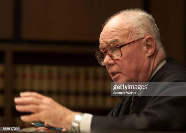 Judge William L Gordon Santa Barbara County Superior Court talks to Defendant Graham Pressley the judge postponed sentenceing until Feb 11 2003...