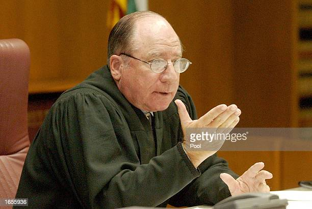 Judge William Mudd listens to arguments during a sentencing hearing at the Superior Courthouse November 22 2002 in San Diego California Mudd granted...