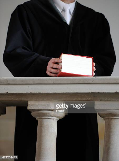 judge with law book