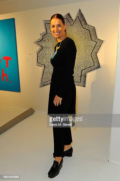 Judge Yana Peel attends the Moet Hennessy London Prize Jury Visit during the PAD London Art Design Fair at Berkeley Square Gardens on October 14 2013...