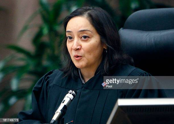 Judge Yvette M. Palazuelos during closing arguments in the Michael Jackson family lawsuit against AEG September 24, 2013 in downtown Los Angeles....