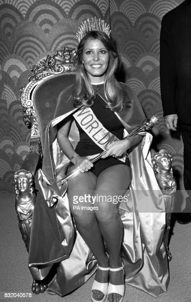 Judged the best of the 54 beauties competing in the Miss World conrest at the Albert Hall was Miss United States Marjorie Wallace now installed with...