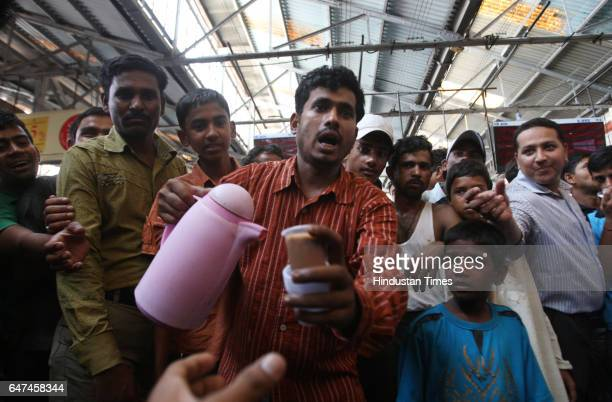 Judgement Mohammed Toufiq Shaikh a tea vendor at CST station distributes free tea to the commuters to celebrate death sentence to 2611 accused Ajmal...
