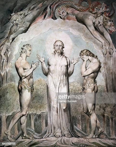 Judgement of Adam and Eve by William Blake