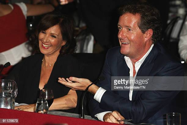 Judges Arlene Phillips and Piers Morgan at the Newsroom�s Got Talent event held in aid of Leonard Cheshire Disability and Helen Douglas House at...