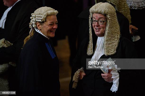 Judges arrive at Westminster Abbey for the annual service to mark the start of the legal year on October 1 2015 in London England The annual service...