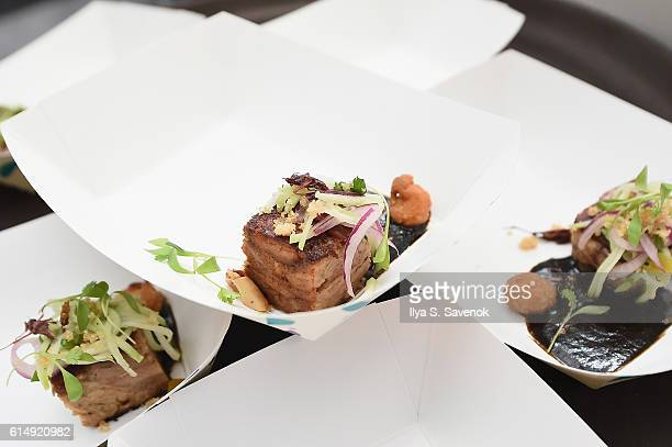 Judges Choice Winner Chef Mario Hernandez of Black Ant Restaurant attends Rooftop 'Chopped' during the Food Network Cooking Channel New York City...