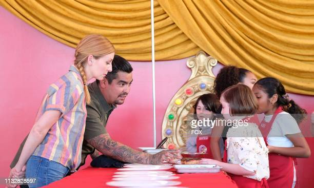 Judges Christina Tosi and Aaron Sanchez with the contestants in the Junior Edition Under the Big Top episode of MASTERCHEF airing Tuesday March 19 on...
