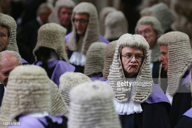 Judges congregate in Westminster Abbey before their Annual Service of Thanksgiving on October 1, 2012 in London, England. The start of the legal year...