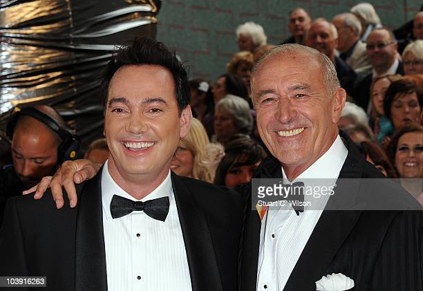Judges Craig Revel Horwood and Len Goodman attend the 'Strictly Come Dancing' Season 8 Launch Show at BBC Television Centre on September 8 2010 in...