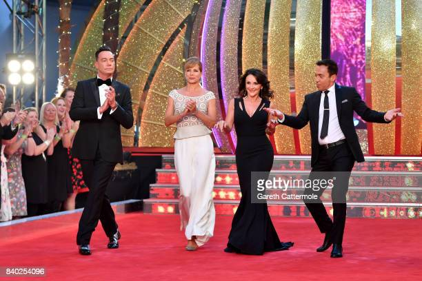 Judges Craig RevelHorwood Darcey Bussell Shirley Ballas and Bruno Tonioli attend the 'Strictly Come Dancing 2017' red carpet launch at The Piazza on...
