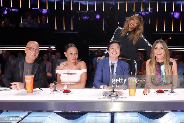 S GOT TALENT 'Judge's Cuts 1' Episode 1307 Pictured Howie Mandel Mel B Ken Jeong Tyra Banks Heidi Klum