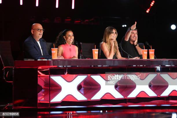 S GOT TALENT 'Judge's Cuts' Pictured Howie Mandel Mel B Heidi Klum Simon Cowell