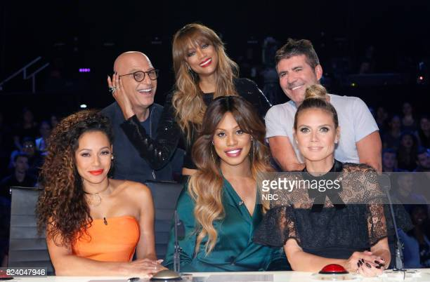 S GOT TALENT Judge's Cuts Pictured Top Row Howie Mandel Tyra Banks Simon Cowell Bottom Row Mel B Laverne Cox Heidi Klum