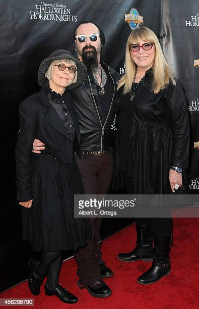 Judges from SyFy's 'Face Off' Lois Burwell Glenn Hetrick and Ve Neill arrives for Universal Studios Hollywood 'Halloween Horror Nights' Kick Off With...