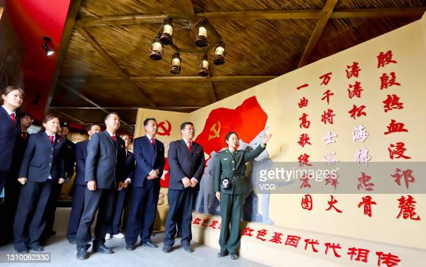 Judges from the Qilian Mountains ecological court visit the Liyuankou Battle Memorial Hall to mark the 100th anniversary of the founding of the...
