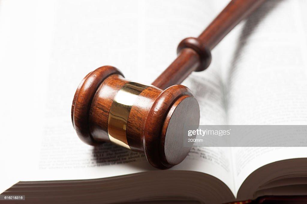 Giudici Martelletto del moderatore : Foto stock