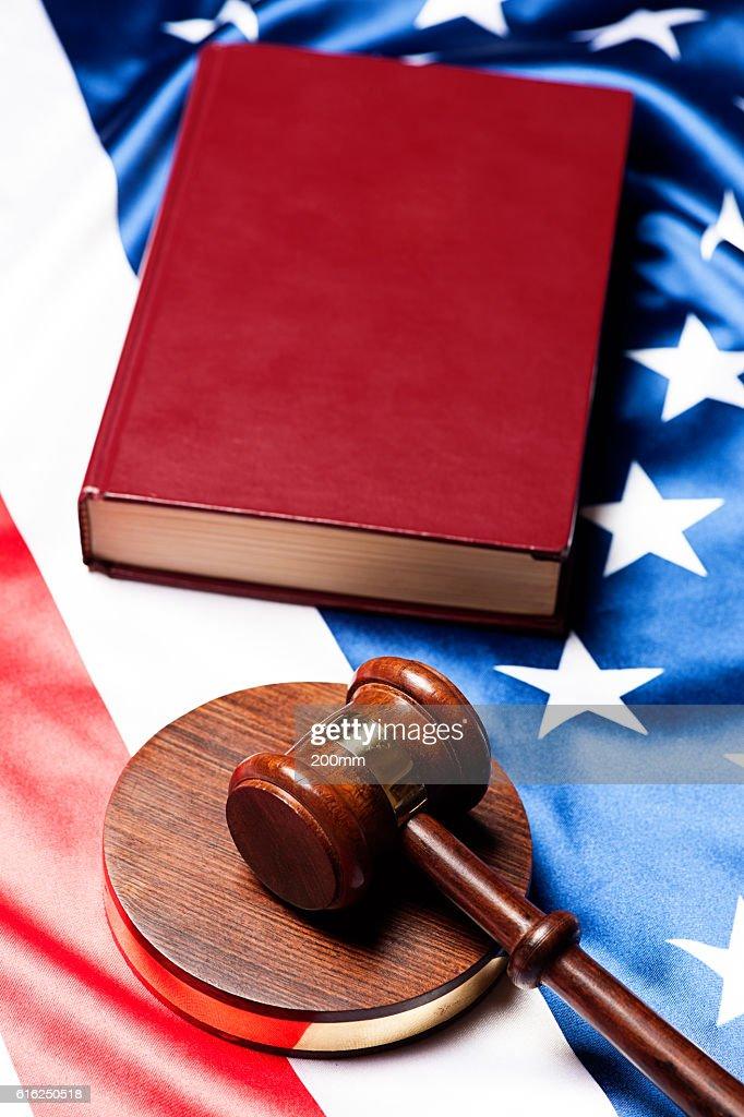 Los jueces mazo : Foto de stock