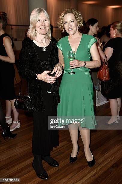 Judges Helen Dunmore and Cathy Newman celebrate the 2015 Baileys Women's Prize for Fiction winner announcement at the Royal Festival Hall on June 3...