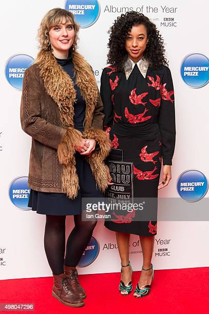 Judges Kate Mossman and Corinne Bailey Rae attend the Mercury Music Prize at BBC Broadcasting House on November 20, 2015 in London, England.