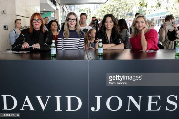 Judges Kimberly Gardner Teneille Oakley Jessica Gomes and Edwina Robinson at the model casting for the David Jones Autumn Winter 18 Collections...