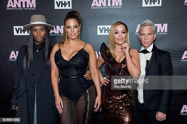"Judges Law Roach, Ashley Graham, Rita Ora and Drew Elliott attend VH1's ""America's Next Top Model"" Premiere at Vandal on December 8, 2016 in New York..."