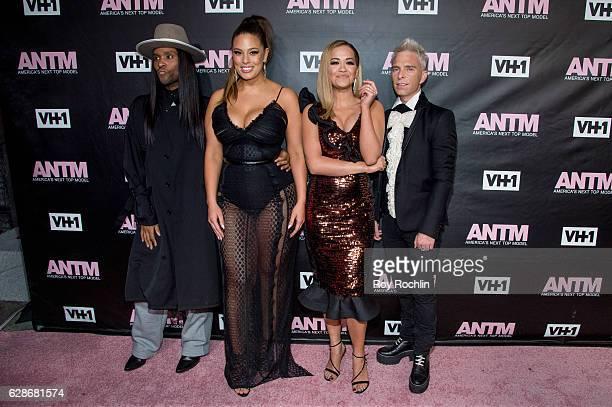 ANTM judges Law Roach Ashley Graham Rita Ora and Drew Elliott attend VH1's 'America's Next Top Model' Premiere at Vandal on December 8 2016 in New...