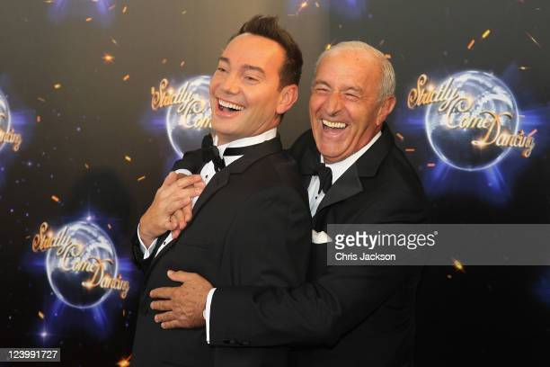 Judges Len Goodman and Craig Revel Horwood arrive at the Strictly Come Dancing 2011 press launch at BBC Television Centre on September 7 2011 in...