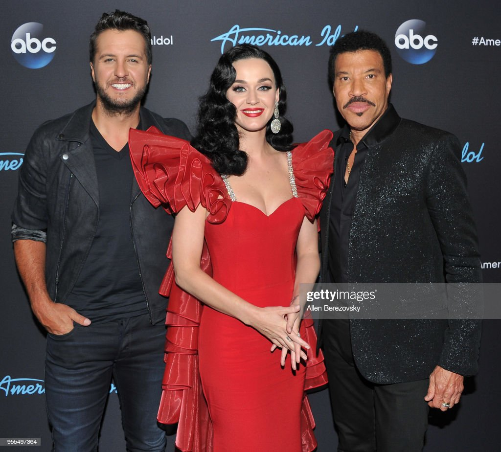 Judges Luke Bryan, Katy Perry and Lionel Richie arrive at ABC's 'American Idol' show on May 6, 2018 in Los Angeles, California.