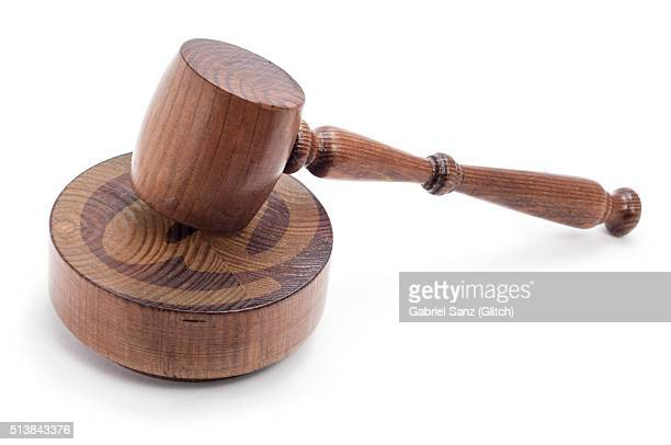 judge´s mallet and At sign