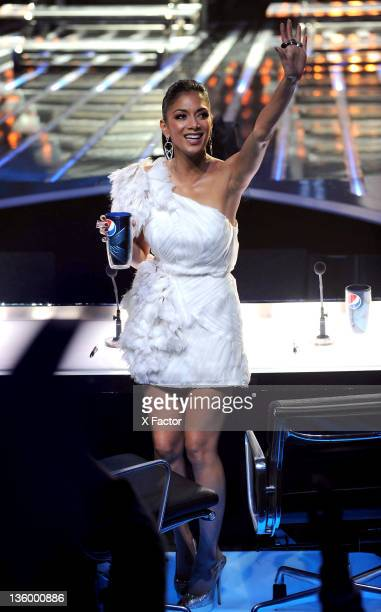 Judges Nicole Scherzinger at FOX's The X Factor Top 4 to 3 Live Elimination Show on December 15 2011 in Hollywood California