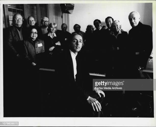 Judges of 3rd Sydney International Piano Competition of AustraliaL to R Andrew Laplante Canada MeyerJosten Germany Rex Hobcroft of Australia...
