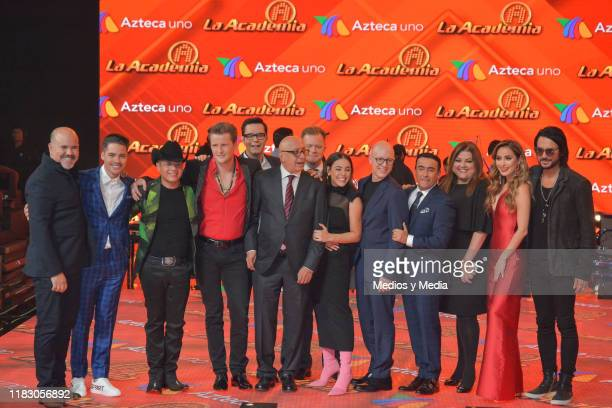 Judges poses for photos during 'La Academia 2019' Presentation at Azteca Novelas on October 23 2019 in Mexico City Mexico