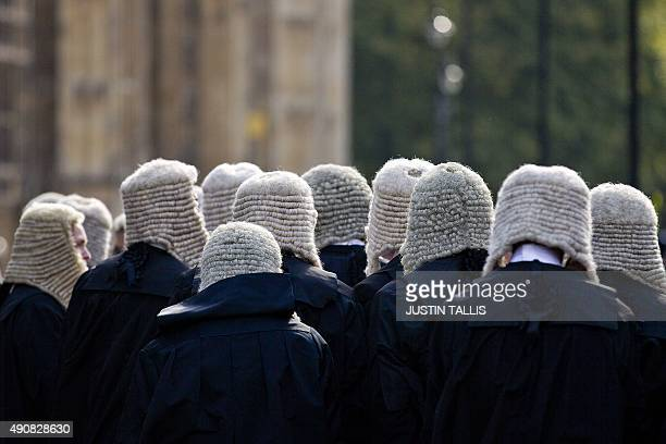 Judges process to the Palace of Westminster in central London, as part of a tradition to mark the start of the new legal year, on October 1, 2015....