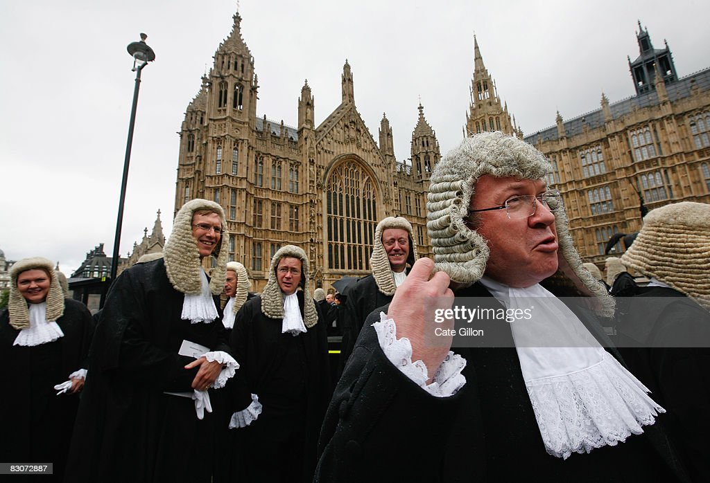 Judges process towards the House of Commons from Westminster Abbey on October 1, 2008 in London, England. The start of the legal year is marked with a traditional religious service in The Abbey. The judges arrive from the Royal Courts of Justice for the service followed by a procession to The Houses of Parliament where the Lord Chancellor hosts a reception. The ceremony in Westminster Abbey has roots in the religious practice of the judges praying for guidance at the start of the legal year. The custom dates back to the Middle Ages when the High Court was held in Westminster Hall.