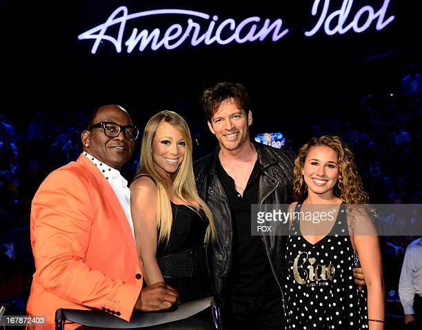 Judges Randy Jackson and Mariah Carey and singers Harry Connick Jr and Haley Reinhart at FOX's American Idol Season 12 Top 4 to 3 Live Performance...