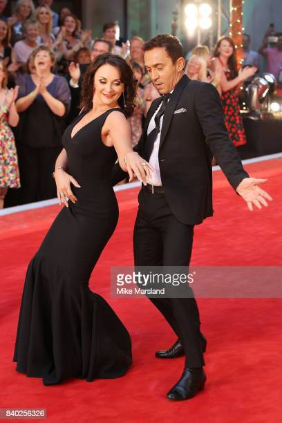 Judges Shirley Ballas and Bruno Tonioli attend the 'Strictly Come Dancing 2017' red carpet launch at The Piazza on August 28 2017 in London England