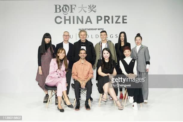 Judges Susanna Lau Andrew Keith Renzo Rosso Edison Chen Uma Wang Tasha Liu Julie Gilhart Imran Amed Wendy Wu and Xiao Xue attend the BoF China Prize...