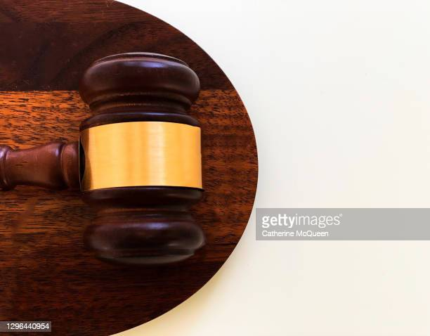 judge's traditional wooden gavel - supreme court justice stock pictures, royalty-free photos & images