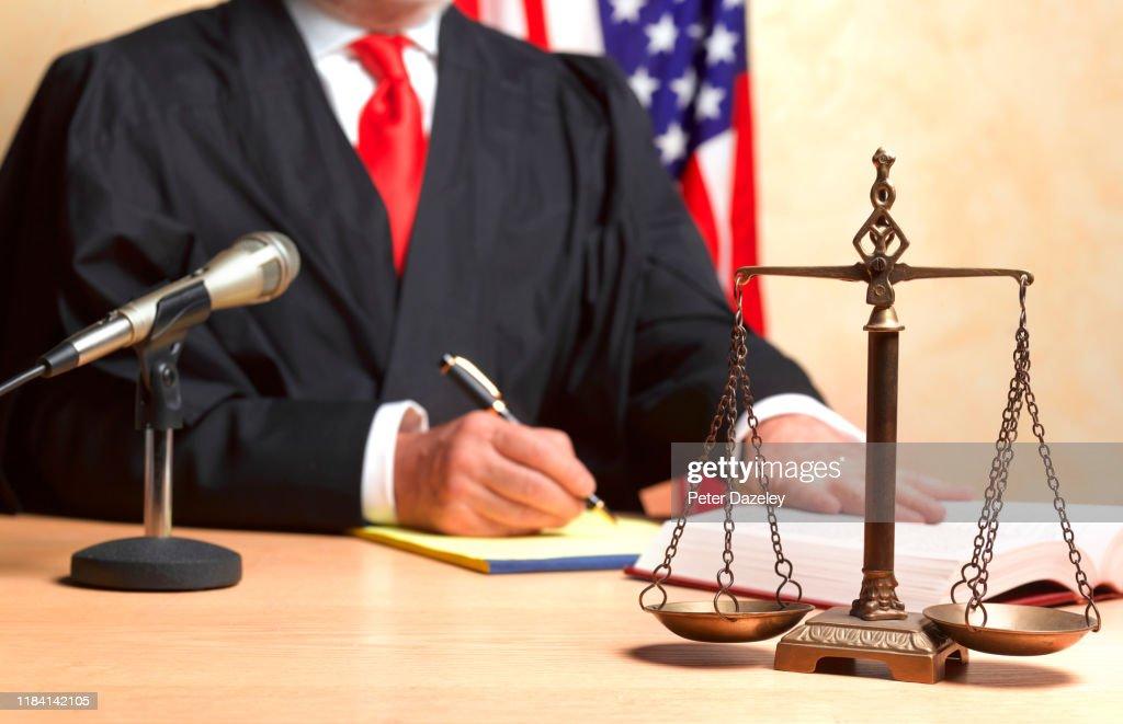Judge's verdict : Stock-Foto