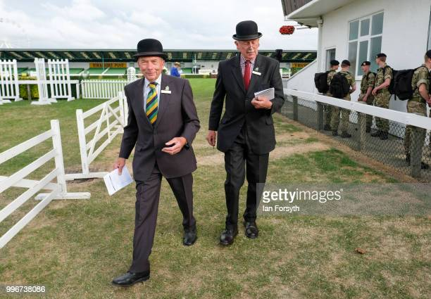 Judges wait for the start of an event during the 160th Great Yorkshire Show on July 10 2018 in Harrogate England First held in 1838 the show brings...