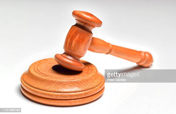 judge's/auctioneer's wooden gavel - justice concept stock pictures, royalty-free photos & images