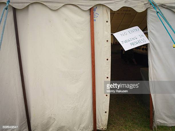 Judging tent in English country show