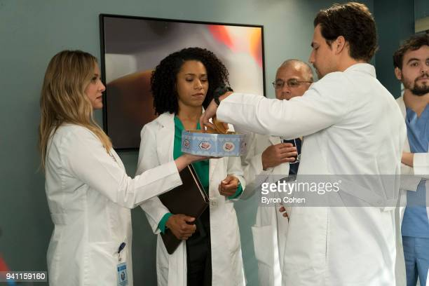 S ANATOMY 'Judgment Day' During presentations on Grey Sloan Surgical Innovation Prototypes Day Arizona shares some cookies from an appreciative...