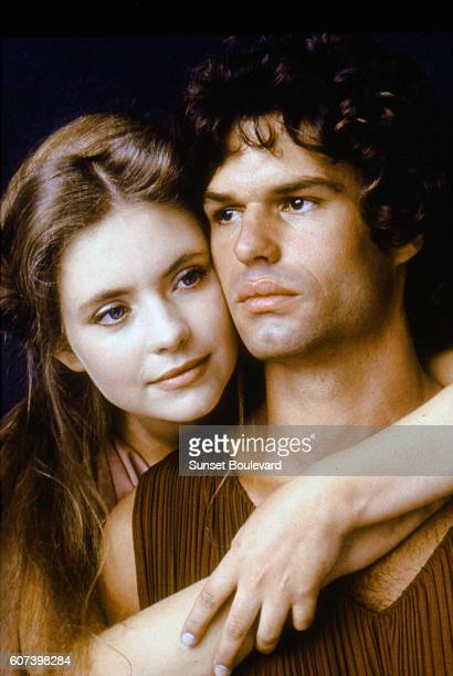 Judi Bowker and Harry Hamlin on the set of Clash of the Titans