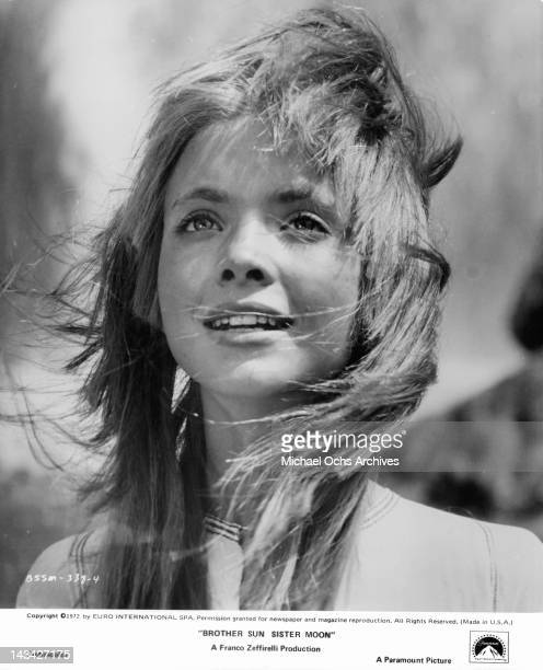 Judi Bowker wind blowing through her hair in a scene from the film 'Brother Sun Sister Moon' 1972