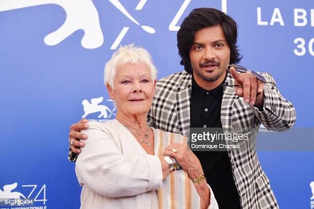 Judi Dench and Ali Fazal attend the 'Victoria & Abdul And Jaeger-LeCoultre Glory To The Filmaker Award 2017' photocall during the 74th Venice Film...