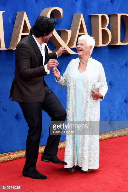"""Judi Dench and Ali Fazal attend the """"Victoria & Abdul"""" UK premiere at Odeon Leicester Square on September 5, 2017 in London, England."""